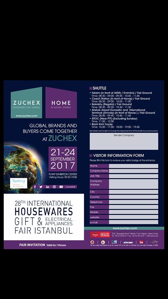 18. ZUCHEX FUARI 21-24 EYLÜL 2017
